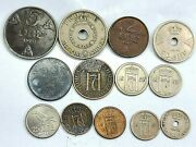 13pcs Norway 1 Krone 1 2 5 10 25 50 Ore Coins 1930-1958 414g