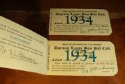1934 Babe Ruth Final Season W/ Yankees Hr 702 White Sox Season Pass Book Ticket