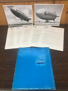 """1965 Goodyear Blimp Lot. Two 9x11"""" Pictures And More"""