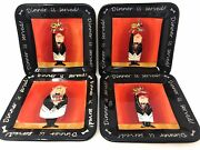 Certified International Square Plates 4 By Tracy Flickinger 8.5