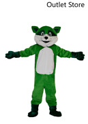 Xmas Green Raccoon Mascot Costume Suits Cosplay Party Game Dress Outfit Clothing