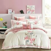 Egyptian Cotton Embroidery Duvet Cover Sets King Size Bedding Set Pillowcases