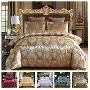Bedding Set Satin Cover Sets With Zipper Closure 1 Quilt Cover + 1/2 Pillowcase