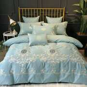 New Style 60 Light Luxury Cotton Four-piece Cotton Embroidery 1.8m Bedding
