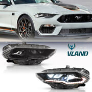Full Led Projector Headlight Dynamic Drl/turn Signal For 2018-2021 Ford Mustang