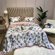 Summer Air Conditioning Tencel Silk Throw Blanket Quilt Bedspread Bed Cover Set