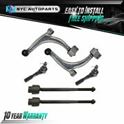 Front Lower Control Arm + Outer Inner Tie Rod 6pc For 2004-2012 Chevy Malibu G6