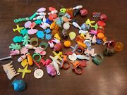 Vtg Gumball Cracker Jack Charms 100+ Pieces Vending Machine Toy Prizes Lot 1