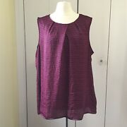 Coldwater Creek Plus Size Sleeveless Top Shell Purple Red Magenta Size 2x 20-22
