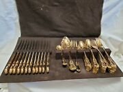 Vtg 1847 Rogers Bros Gold Harden 66 Piece Collection Service For 12 + Serving