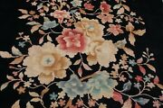 C1940s Antique Art Deco Walter Nichols Chinese Rug 5and0398x8and0396 Great Design Black