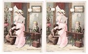 Pair Trade Cards Wheeler Wilsons No 9 Family Sewing Machine High Arm