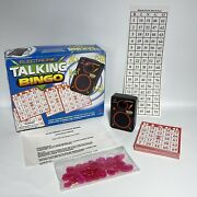 Cardinal Electronic Talking Bingo Game With Cards And Marker Chip Works Great 1996