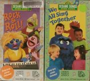 2 Rare Sesame Street Vhs Tape Lot We All Sing Together And Rock And Roll Big Bird