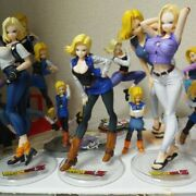 Value Set 24 Dragon Ball Android 18 Figure And Badge Japan Domestic Genuine Exc+++