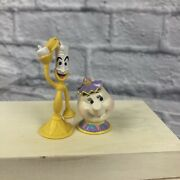 Disney Beauty And The Beast Mrs Potts And Lumiere Figurines Cake Topper Pvc Figure