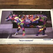 Chicago Cows On Parade 1999 Art Photo Poster Original Printer Ad Proof 38wx25h