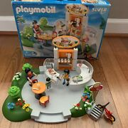 Playmobil Vintage Ice Cream Parlor Super Set 4134 Near Complete