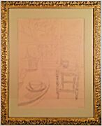 Listed Artist Jean Dufy 1888-1964 Signed Drawing Verandah W/ Provenance