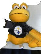 Pittsburgh Steelers Stuffed Frog Forever Collectibles 9 In Vintage Sewn Logo