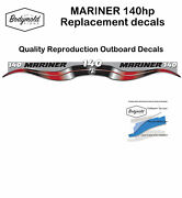 Mariner 140hp Two Stroke 2006 Style Outboard Reproduction Decal Set