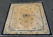 Chinese Peking Antique Circa 1900 Hand-knotted Wool Oriental Rug 8and039 2 X 9and039 8