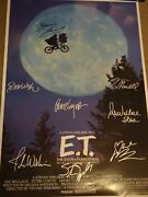 E.t. 1982 Signed Movie Poster 8 Sigs Including Pat Walsh The Voice Of Et