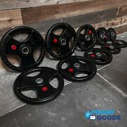 New 275 Lb Olympic Weight Set, Commercial Rubber Coated Grip Plates, In Stock