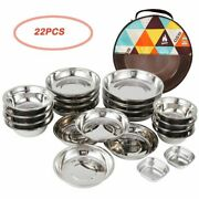 Picnic Tableware Utensils Set Camping Outdoor Bbq Party Portable Stainless Steel