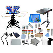 Micro-adjust 6 Color Screen Printing Kit With Flash Dryer Exposure Ink Supply
