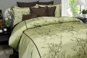 Silk 3 Pcs Duvet Cover Set 100 Polyester With Embroidery Easy Care King Size