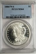 1880/79-s Ms64 Morgan Silver Dollar Coin Pcgs Mint State 64