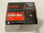 Esselte Classic Cash Box Metal Money Coin Note Lockable No.10 2 Keys Coin Tray