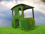 Lgb Steam Engine Cab Green With Brass Handrails And Roof Vent.
