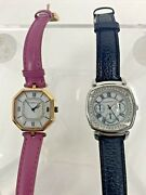 Isaac Mizrahi Live Two Womanand039s Watches Pink Rose Gold And Black Stainless