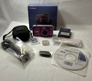 Power Shot Canon Sx210 Is-purple- Digital Camera-14x Zoom-w Extra Accessories-a2