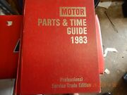 1983 Motor American Domestic Cars Parts And Time Guide Auto Repair Workshop Garage