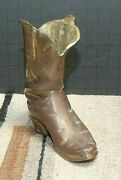 Old Vintage Solid Brass Cowboy/western Boot Toothpick Holder/ashtray