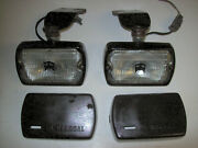 Classic Vintage Sev Marchal 750 759 Gt Driving Fog Rally Lights Lamps W/covers