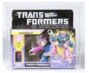 Graded Squeezeplay Misb 1988 Hasbro G1 Transformers Cas Not Afa Tape Sealed Box