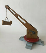 Vintage 1960and039s Working Wooden Crane Toy