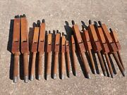 Vintage Architectural Church Salvage - 15 Wood Pipe Organ Tubes Flue Pipes