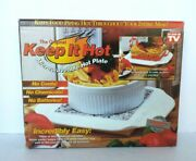Brand New In Box The Original Keep It Hot Microwaveable Hot Plate As Seen On Tv