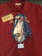 Nwt Rare Vintage Snoop Dogg Clothing Co Red Button Shirt T Shirt Size Large L