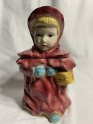 Brush Mccoy Pottery Rare 1956 Little Red Riding Hood Cookie Jara13