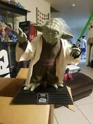 Star Wars Yode Life Size Attack Of The Clones. Please Read Listing