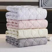 Thicken Quilted Mattress Cover Bed Protector Pad Anti-bacteria Topper Bed Cover
