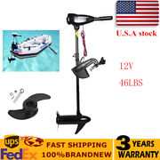 12v 46lbs Outboard Thruster Electric Trolling Motor Fishing Boat Brush Motor