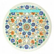 2and039x2and039 Marble Table Top Center Coffee Pietra Dura Antique Home Decor Inlay W166
