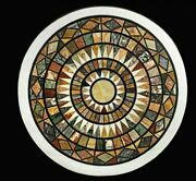 2and039x2and039 Marble Table Top Center Coffee Pietra Dura Antique Home Decor Inlay W167